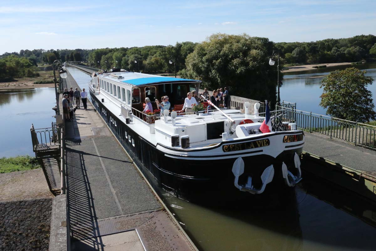 VIP service onboard our luxury hotel barge