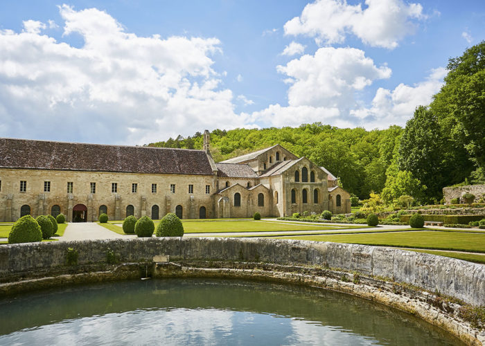 Abbey of Fontenay stop on the Burgundy barge cruise