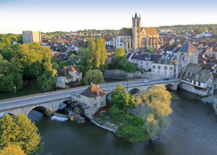 Sightseeing in Moret sur Loing on the Upper Loire to Burgundy Cruise Route
