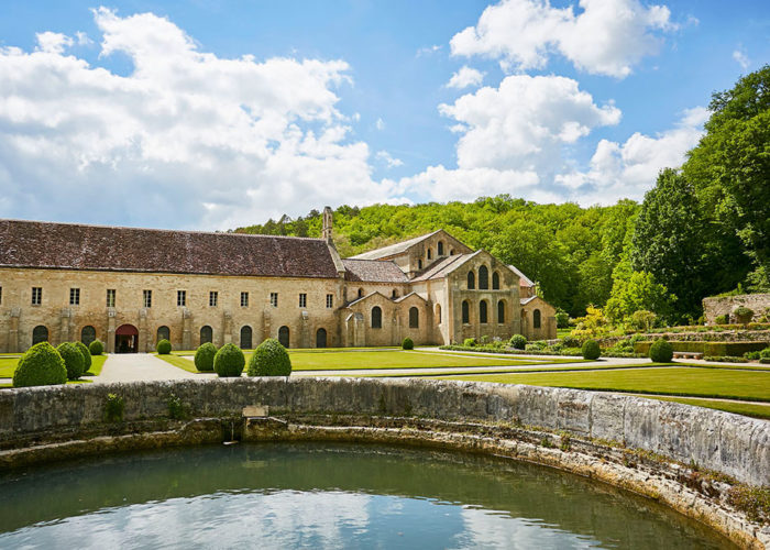 Abbey of Fontenay on our 5-night Burgundy Barge Cruise