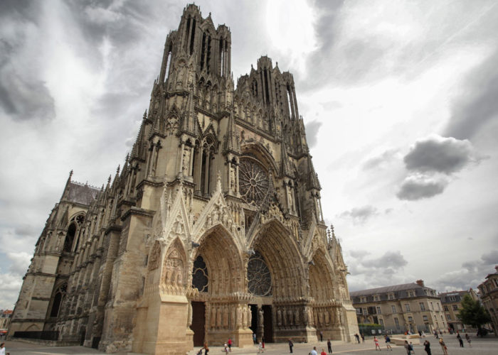 Reims cathedral on the Champagne Hotel Barge Cruise Route