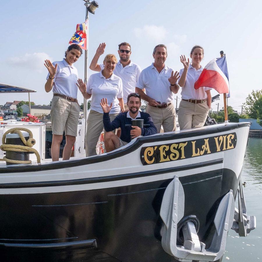 On board the C'est La Vie Luxury Hotel Barged