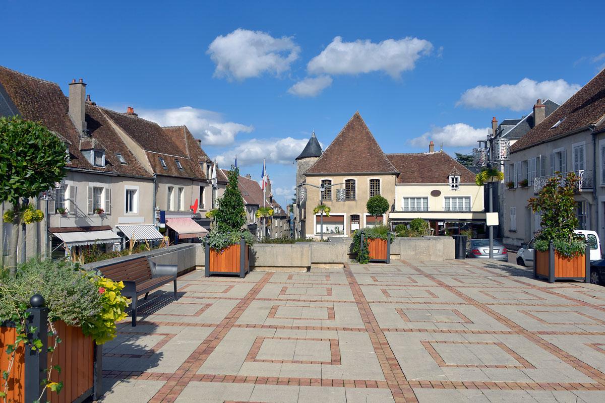 Village square of Sancerre in France