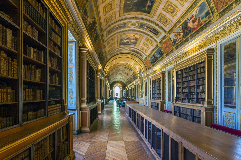 Chateau-Fontainbleau library interior